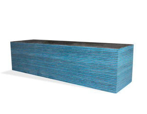 SpectraPly Laminated Wood- DARK AQUA-  Various sizes - Maker Material Supply