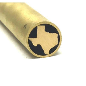 "Texas Mosaic Pin Inlay Custom Knife Making 3/8"" x 4"" Brass- 1 pin- MPTX1 - Maker Material Supply"