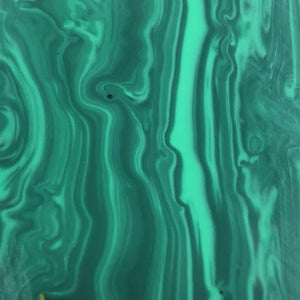 "TruStone- Banded Malachite - 1.5"" x 6"" - 1 Piece - Maker Material Supply"