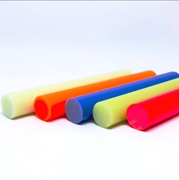 TurboGlow Rods and Ring Blanks- Various Sizes and Colors- CarbonWaves - Maker Material Supply
