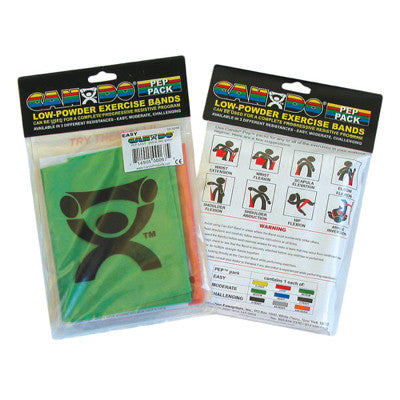 """BUY 5 GET 5 FREE"" CanDo® Low Powder Exercise Band Pep™ Pack - Moderate - Chiropractic Supplies"