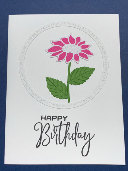 Birthday-Pink Circle Diecut