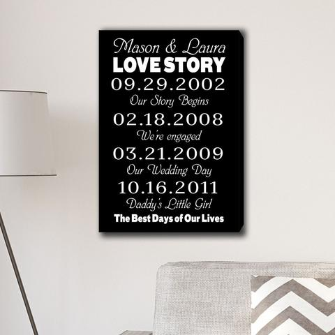 Best Days of Our Lives Canvas Print
