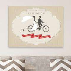 Personalized Couples Wedding Canvas