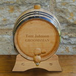 Personalized Mini Oak Whiskey Barrel