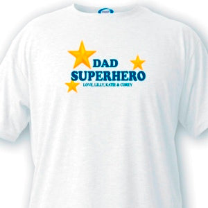 Personalized Dad T Shirt - Superhero!