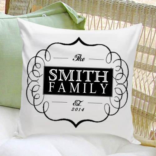 Family Name Throw Pillow
