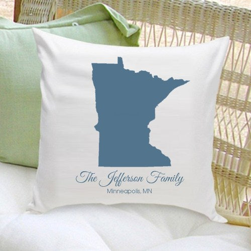 Personalized State Throw Pillow