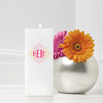 Wistful Monogram Candle 3 x 6 Square