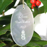 Personalized Oval Christmas Ornament