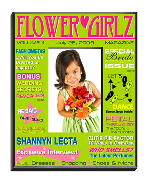 GC647 Green Flower Girl Magazine Frame