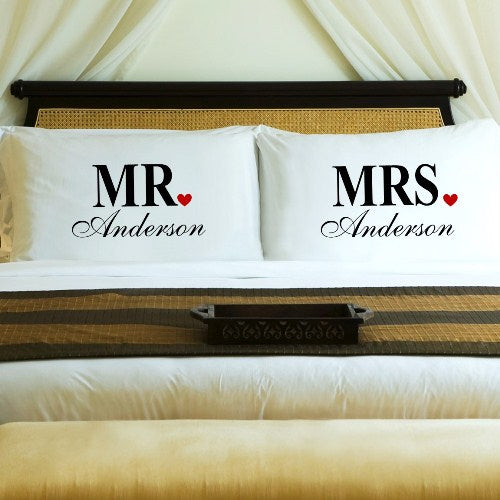 Couples Pillow Case Set