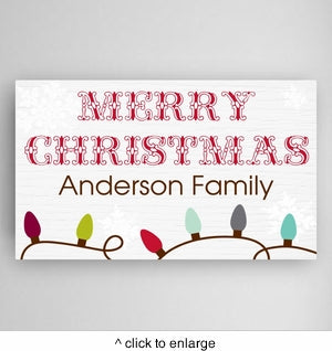 Christmas Lights Canvas Sign