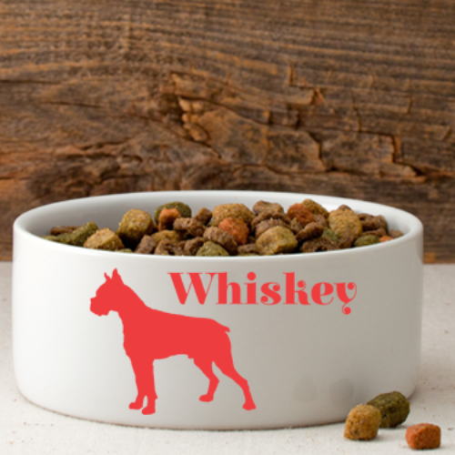 Man's Best Friend Silhouette Small Dog Bowl