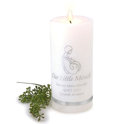 Personalized Our Little Miracle Candle
