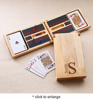 Monogrammed Cribbage Game