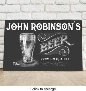 Personalized Premium Beer Canvas Sign