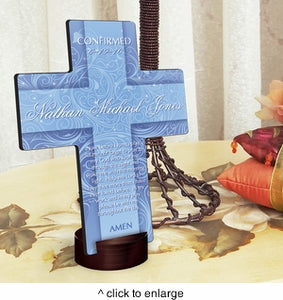 Personalized Twinkling Star Cross with Stand