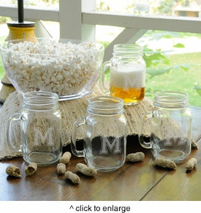 Personalized Collegiate Jar Glass Set