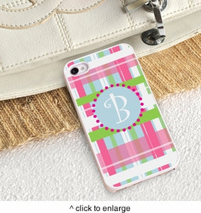 Personalized iPhone Case with White Trim