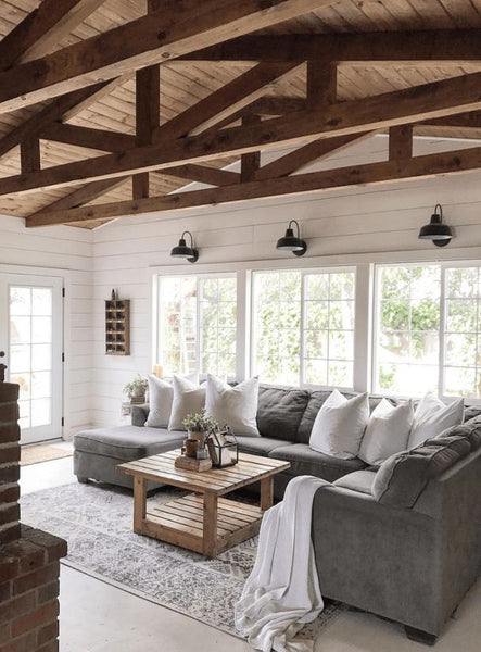 modern farmhouse living room decor ideas and inspiration