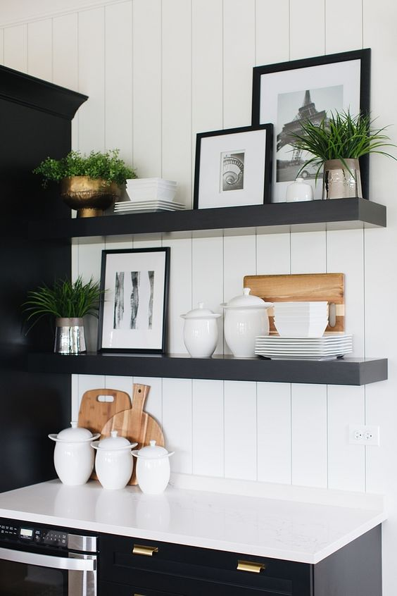 layering shelving decor
