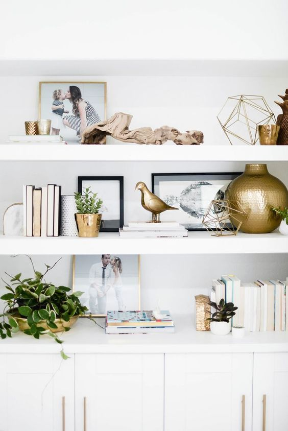 shelf decorating home