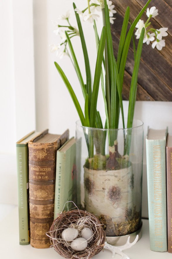 spring colored books to decorate