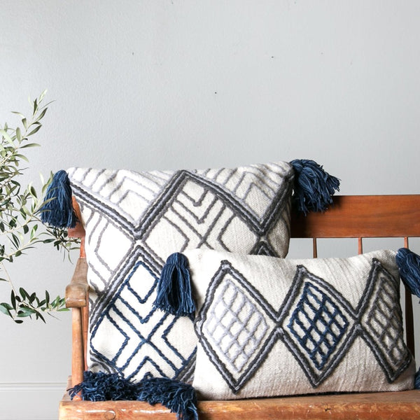 blue pillows from magnolia home decor