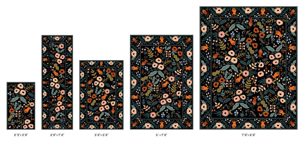lourdes black rug from rifle paper co x loloi rugs