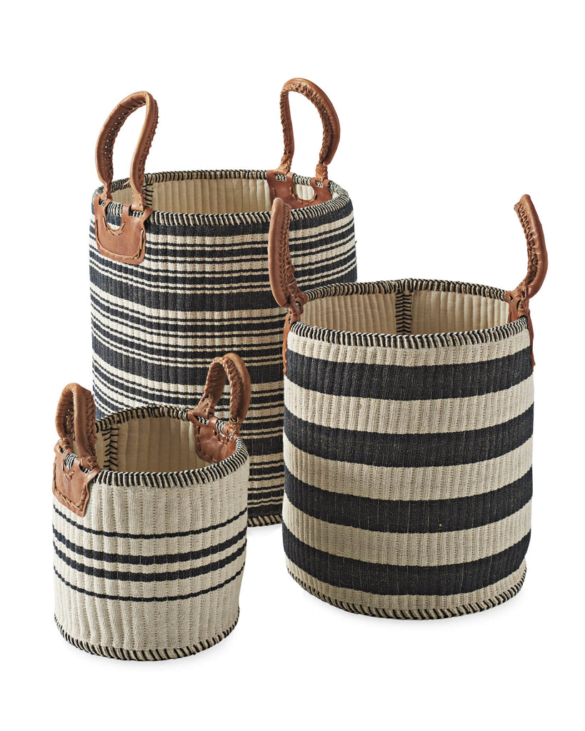 handmade woven baskets for storage serena and lily
