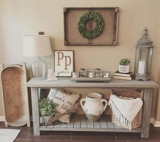rustic farmhouse entryway design ideas from pottery barn