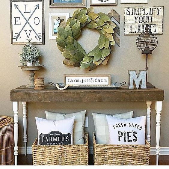 earth tone farmhouse decor