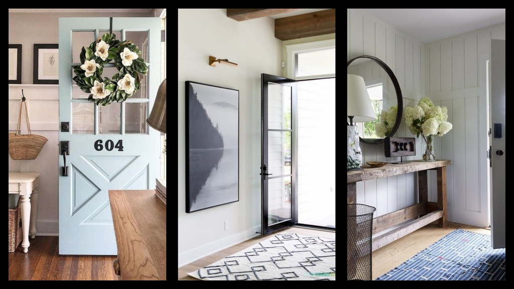 different types of entryway colors for your modern farmhouse home