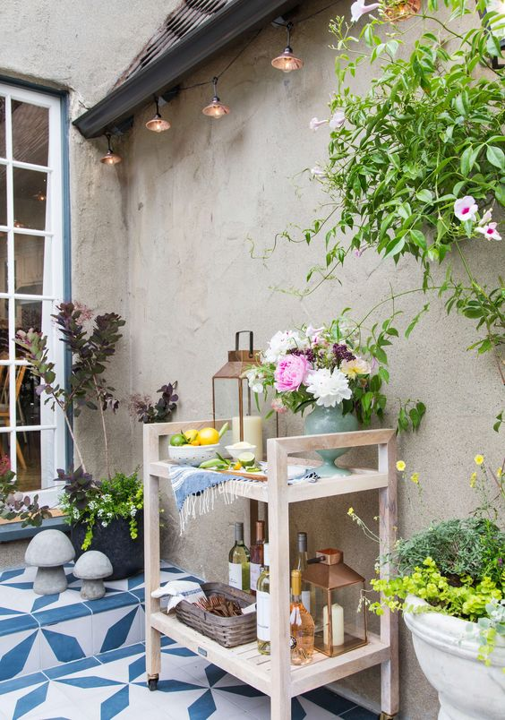 outdoor bar cart decorating patio easy