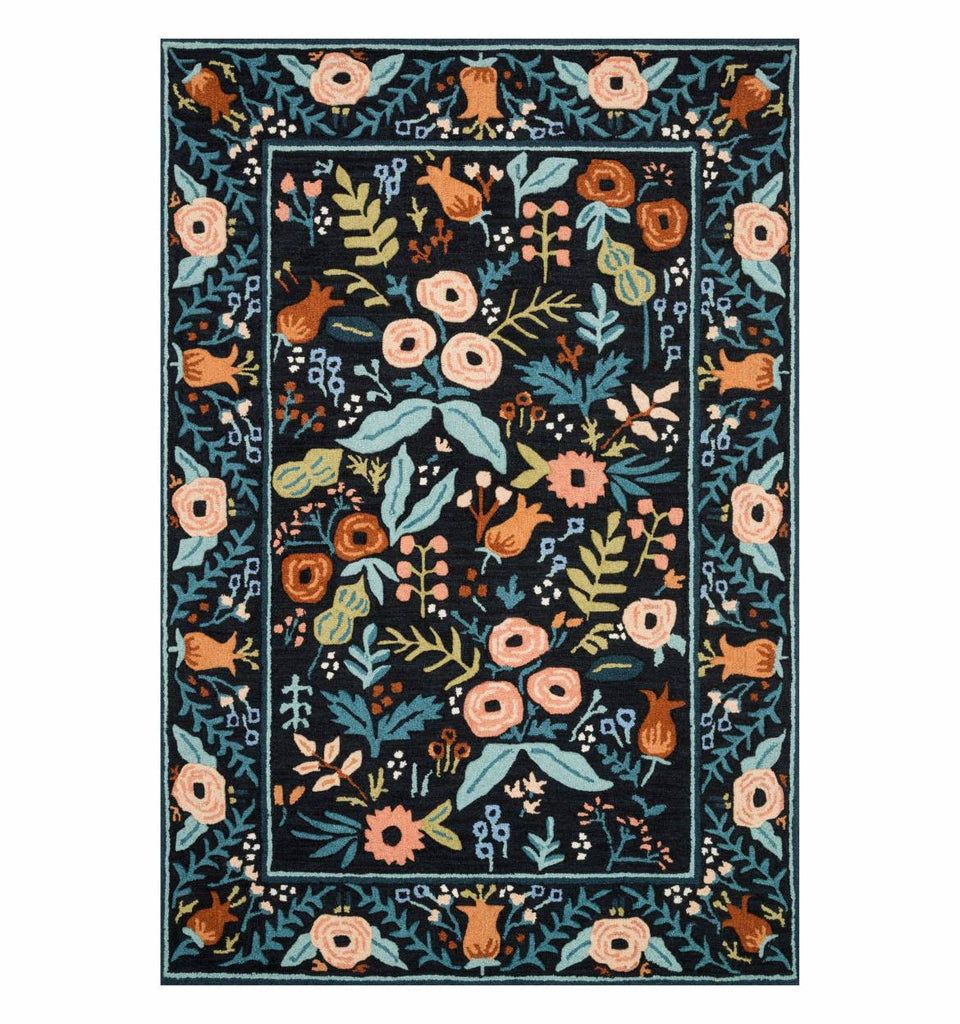 lourdes black rug form rifle paper co x loloi rugs available in boca raton