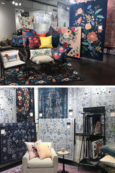 new rugs and pillows from rifle paper company