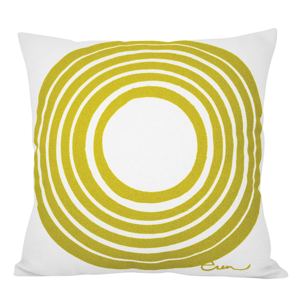Gold circle pillow