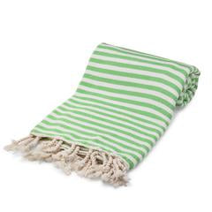 Cotton turkish towel green stripe