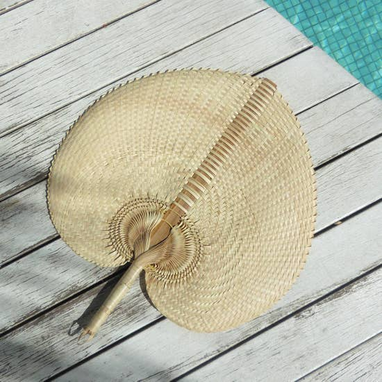 Natural woven fan