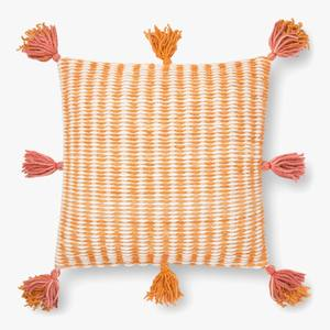 Orange stripe pillow