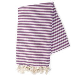 Cotton turkish towel Purple stripe