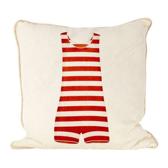 Red Bathing suit indoor outdoor pillow