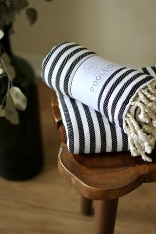 Cotton turkish towel black