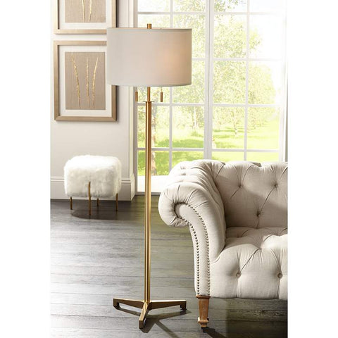 Brushed brass floor lamp