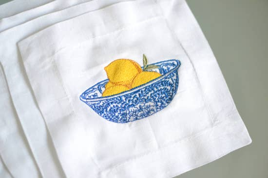 Lemon Ginger Jar Cocktail Napkins
