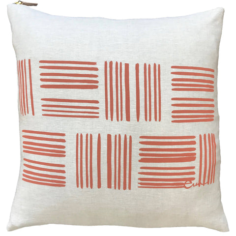 Orange slash pillow