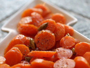 Glazed Carrots with Cardamom and Lucy Bee