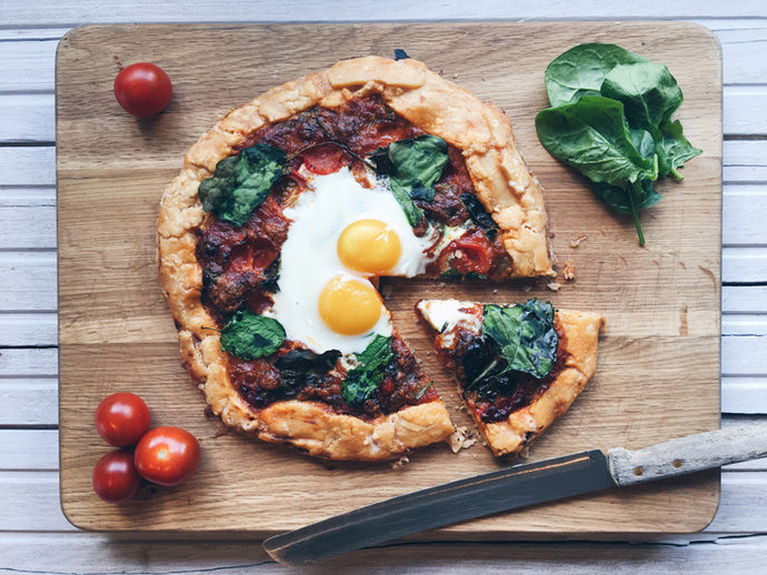 Florentine Galette Pizza with Spinach