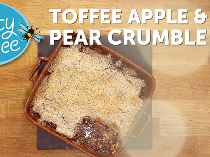 Toffee Apple and Pear Crumble